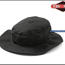 【野戰搖滾-生存遊戲】美國 TRU-SPEC 傭兵部隊圓邊帽~可調式【黑色】魔鬼沾闊邊帽圓盤帽奔尼帽漁夫帽登山帽軍帽