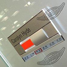 鋁合金 移卡式 標示牌 辦公室門牌 提示牌 名牌 (含印刷物) 另有X架 易拉寶 簡報架