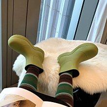 阿希哥mona網紅同款JC BV牛油果雨靴雨鞋厚底馬丁短靴切爾西靴女