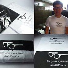 [ImeMyself eyewear] T shirt 100% cotton made in Taiwan