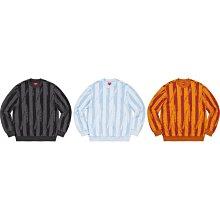 【美國鞋校】預購 SUPREME FW20 Textured Stripe Crewneck 長TEE