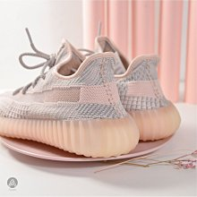 "Yeezy Boost 350 v2 ""Synth"" FV5578 淡粉 亞洲限定 鞋帶反光 男女款"