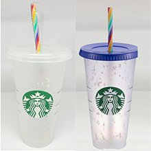 美國版 starbucks 星巴克 彩花冷變 TOGO 冷水杯 24oz 可變色 環保杯 吸管杯 奶茶杯 2色任選