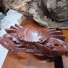 *阿柱的店*木雕 螃蟹 聚寶盒 置物盒
