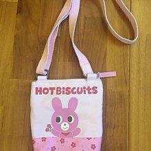 二手品 日本正品 Miki House Mikihouse Hot Biscuits 兒童兔兔帆布斜背包