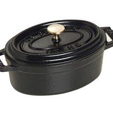 法國 Staub Oval 橢圓鑄鐵鍋 11cm 0.25L 黑色 #40500-111