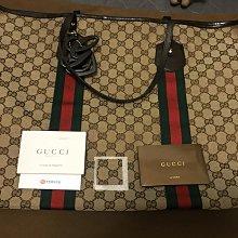 二手 Gucci極新大款紅綠公仔包