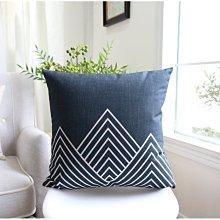 [特價]北歐風 厚磅棉麻抱枕套/靠墊/沙發抱枕 53x53cm - 幾何
