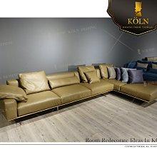 【爵品訂製沙發】MF-SL-82復刻 設計師款L型義大利平紋型半苯染皮革沙發,訂制L型布沙發,沙發尺寸、面料顏色客制化