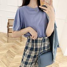 NANAS【A8032】簡單就很美~chic韓國小設計感純棉泡泡袖T恤 特價 現貨