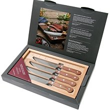 德國 Wusthof 三叉牌 牛排刀 4件式 刀具組 4/S  牛排刀套裝 含精緻原木收納禮盒