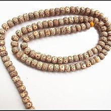 【雅之賞 藏傳 佛教文物】*特賣* 藏式星月菩提正月高密108顆素珠(9*7mm)實物拍攝~011812