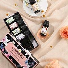 現貨英國原裝 花香精油組 6款*10ML 100%純單方 蒸餾萃取 薰衣草,玫瑰,白茶,櫻花,洋甘菊,梔子花