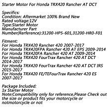 《極限超快感!!》Honda TRX420 Rancher 420 2007-2017 AT DCT 2014-2017 啟動馬達