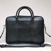 (Outlet特惠)COACH 71681 新款男士素面全皮公文包 側背包 可裝筆電 附代購憑證