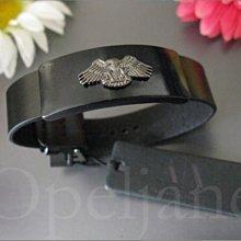 美國真品 A|X Armani Exchange AX 亞曼尼阿曼尼老鷹金屬商標真皮手鍊手環 免運費