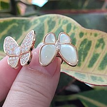 現貨超級精緻時尚蝴蝶高仿鑽戒真鑽相似度92%更璀璨不退色開口仿真鑽石手飾 歐美奢侈豪華高檔微鑲純銀戒指鑽寶出品週年特價
