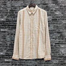 Maple麋鹿小舖 Banana Republic * Banana 土黃色條紋長袖襯衫 * ( 現貨M號 )
