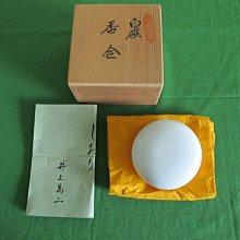 白瓷梅文香合 井上萬二(日本香道具 香盒  沉香粉罐  非香爐)