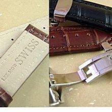 TINA TIMES~破天荒的價格_LEE MOW SWISS純正牛皮厚版錶帶搭配不鏽鋼彈簧摺疊扣送您拆裝工具與白鐵耳針