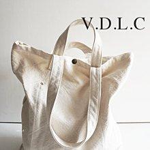 MH選物室 V.D.L.C 日本製 手工 厚磅數 倉敷帆布 2WAY 肩背 手提 兩用 帆布包 VC2