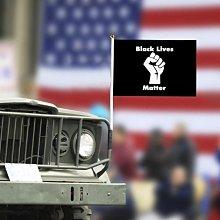 10PCS BLACK LIVES MATTER Hand Flag Supplies 14*21cm 遇見良品u92yrf