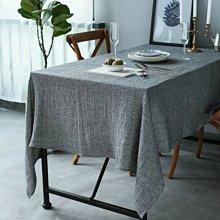 MOK 新品歐美鄉村風亞麻自然皺感復古感桌布 桌巾 灰色 140*210 灰色