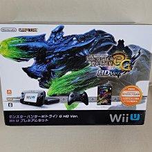 日本原裝任天堂 Wii U 32G 魔物獵人3 (トライ)G HD Ver 同梱主機(黑色)~功能正常 附手把
