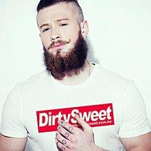 【Dirty Sweet】Red Logo 街頭潮流設計插畫短袖棉質T恤 白色 t-shirt 亞版