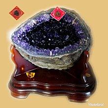 🏆【168 精品】🏆 烏拉圭Esp 收藏級紫水晶洞-原皮、重12.5kg、寬-26cm、高-26cm、洞深-13cm