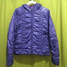 日本品牌~美麗紫色 雙面穿薄鋪棉防風外套