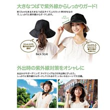 ::: i-MelOn in JP :::【現貨】日本UV CUT 透氣綁帶蝴蝶結遮陽帽漁夫帽※黑色/頭圍53~60