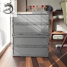 九州動漫 日本制TRUSCO透明折疊家用衣物品整理汽車后備箱收納儲物工具箱盒
