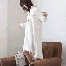 *Angel  Dance* 睡裙連身式@韓國 長袖 白 純棉 性感 公主 襯衫 大碼 寬鬆 睡衣 家居服@現貨+預購