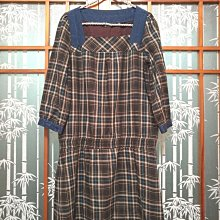 DITA 格紋洋裝 縮腰 氣質款S號