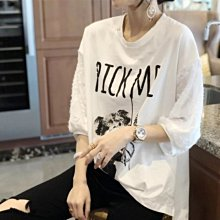 上衣 T恤 韓系 寬鬆休閒衫L-2XL歐貨潮白色短袖寬鬆大碼打底小衫MC019A.5820胖胖美依