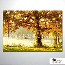 【放畫藝術】樹林景67 純手繪 油畫 橫幅 黃橙 暖色系 山水 藝術畫 精選 民宿 餐廳 裝潢 室內設計 辦公室