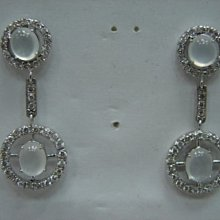 台中玖泰流當品 玻璃種 A貨 翡翠 鑽石 K金 耳環 喜歡價可議 或物品交換 PH034