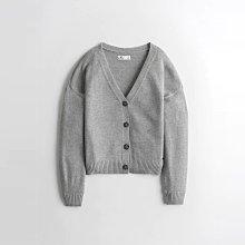 【HOLLISTER Co.】【HCO】HC女針織外套短版4扣灰 F02210425-03
