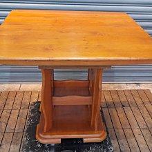台中二手家具樂居 全新中古傢俱家電買賣 A0506BH 實木餐桌(可延長) 會議桌 辦公桌 電腦桌書桌新竹 泡茶桌椅台北