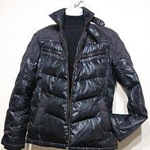 專櫃品牌 BIG TRAIN 羽毛外套 立領 拼接款-男款-黑-L 【JK嚴選】鬼怪