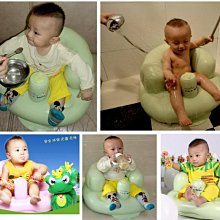 寶寶充氣椅/嬰兒沙發椅/浴凳/浴座椅/學座椅 加厚加寬/多功能學坐椅餐椅便攜式