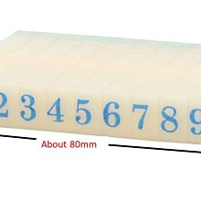 9mm Rubber 0-9 Digits Detachable Number Stamp Stationery