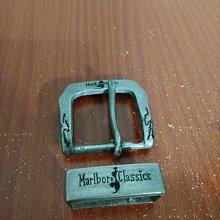 vintage 美國製 Marlboro Classic 萬寶路 皮帶頭