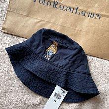 Polo Ralph Lauren Polo Bear Chino Bucket Hat polo漁夫帽 深藍色 全新品 現貨在台 S/M小頭圍美國官網正品