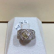總重64分天然淡黃彩鑽K金鑽石戒指,復古造型設計款式,出清價35800元,中性款式男女適用,花式車工方鑽款式
