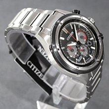 CITIZEN CA4240-82E 星辰錶 手錶 46mm 鈦金屬 光動能 黑色面盤 三眼計時 男錶女錶