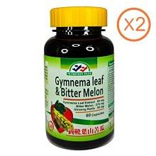兩瓶特價組 武靴葉 Gymnema Leaf 山苦瓜 鉻 60粒裝 美國進口 營養補力