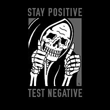 GOODFORIT / 美國Sketchy Tank Stay Positive 樂觀生活長袖上衣