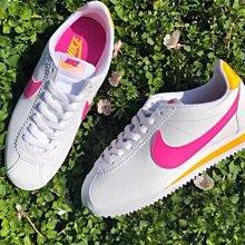 【E.D.C】Nike Classic Cortez Leather 粉勾 阿甘 男女鞋 807471-112